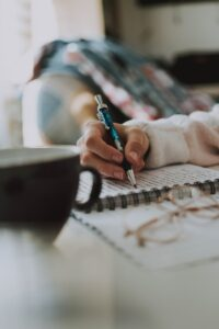 selective focus photography of pen